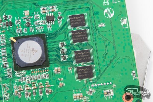 Dune HD TV-303D — процессор и модули оперативной памяти