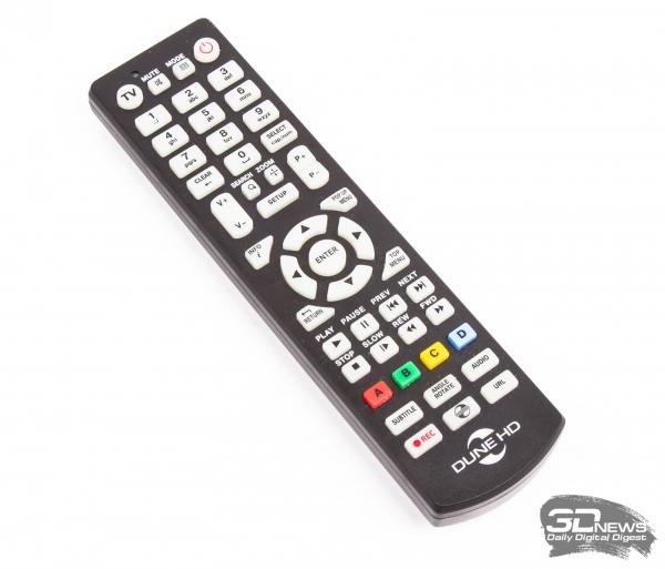 Dune HD TV-303D — комплектный пульт дистанционного управления