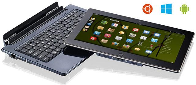 Планшет Ekoore Python S3 с тремя ОС: Ubuntu, Android и Windows 8