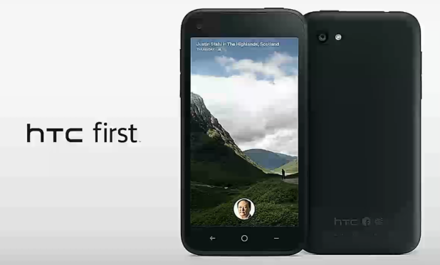 HTC First, HTC, Facebook Home,