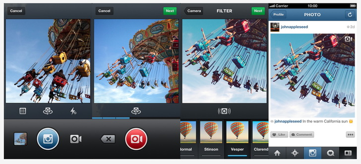 App Store Фотосервис Instagram получил поддержку видео.