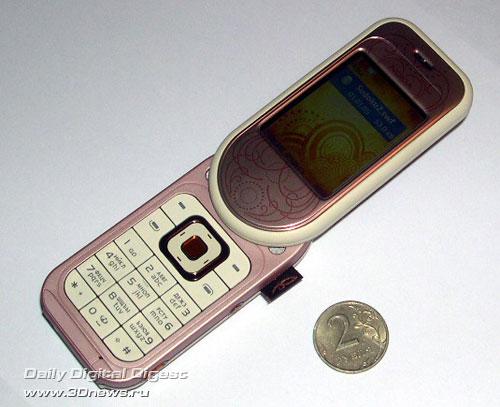 nokia 7370 розовый фото: