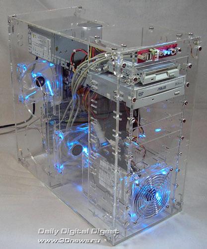Прозрачный корпус для компьютера атм