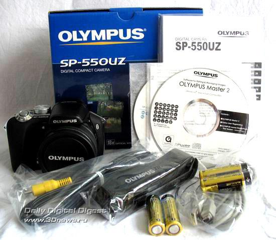 Комплектация Olympus SP-550 UZ