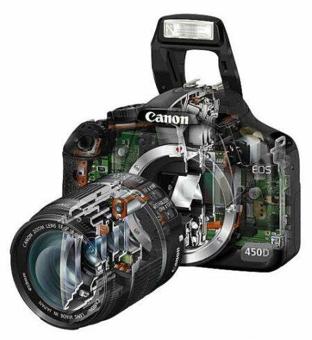 Купить зеркальный фотоаппарат Canon EOS 450D Body (черный): цена зеркалки Кэнон EOS 450D Body в каталоге фотокамер интернет магазина Связной - Казань