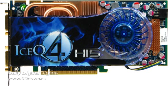 HIS Radeon HD 4850 IceQ 4 TurboX, вид спереди