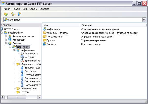 FTP-сервер для домашнего пользователя