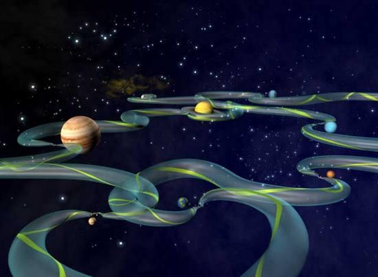 Гравитационные туннели между