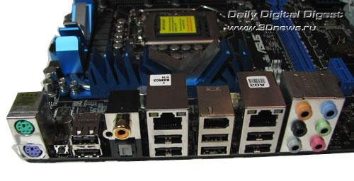 ASUS P7P55D Deluxe задняя панель