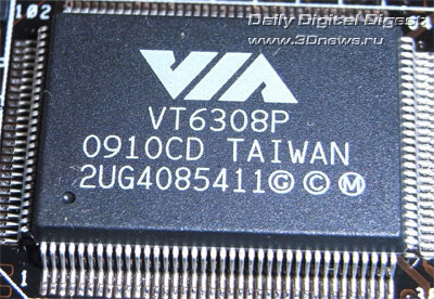 ASUS P7P55D Deluxe контроллер FireWire