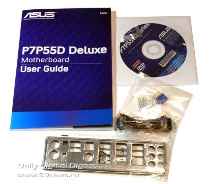 ASUS P7P55D Deluxe комплектация 1