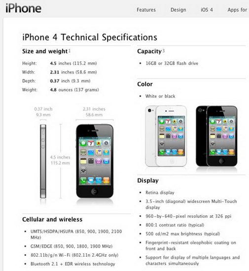 Обзор iPhone 4S (технические характеристики
