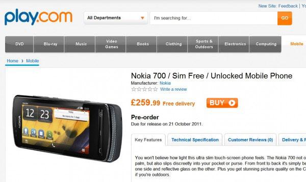 Nokia 700 позиционируется как