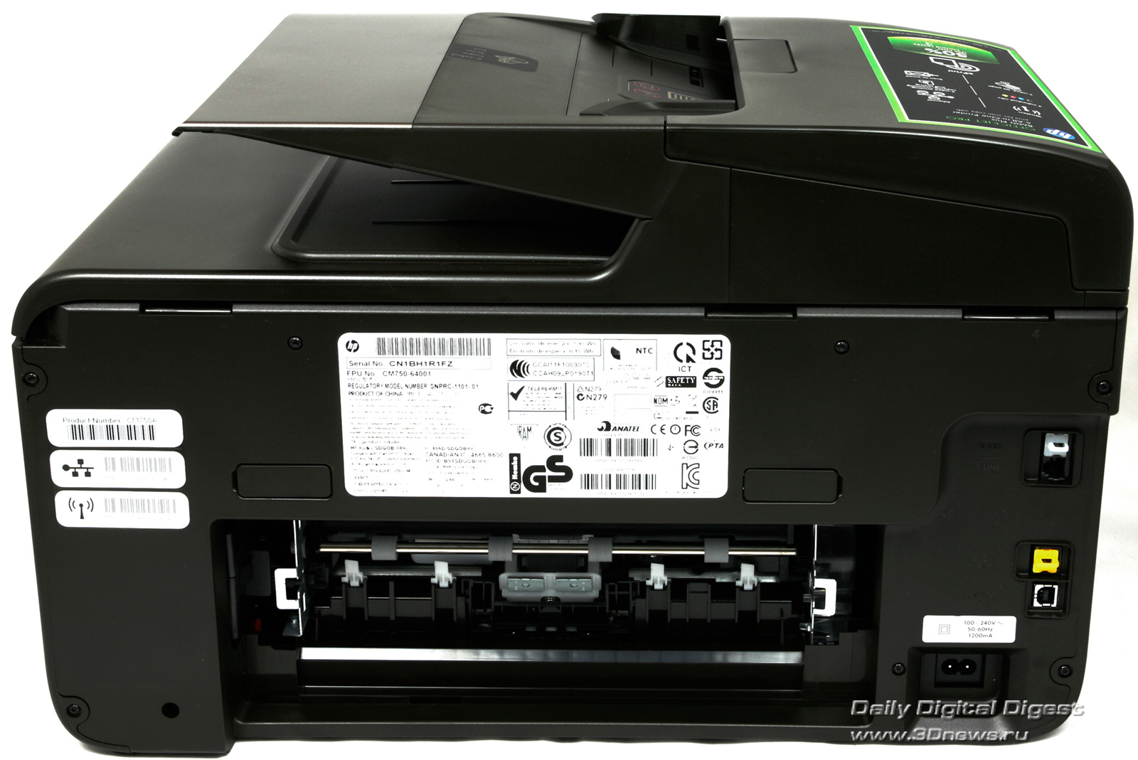 Hp officejet pro 8600 fax hook up