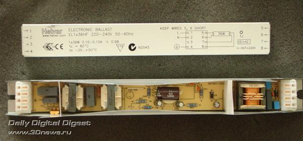 Балласт Helvar для ЛЛЛ 36 Вт.