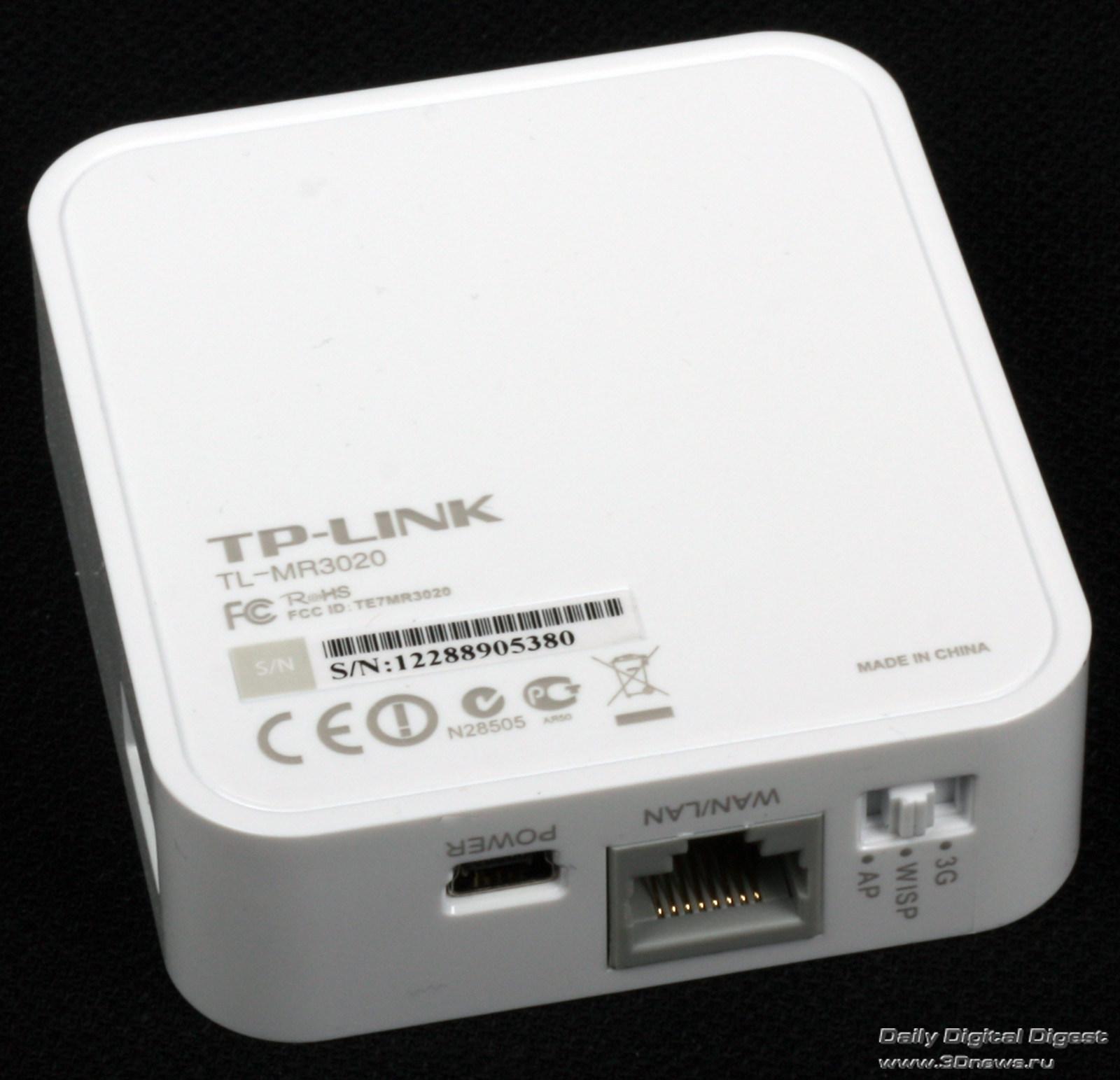 Tp Link Tl Mr3020 Инструкция