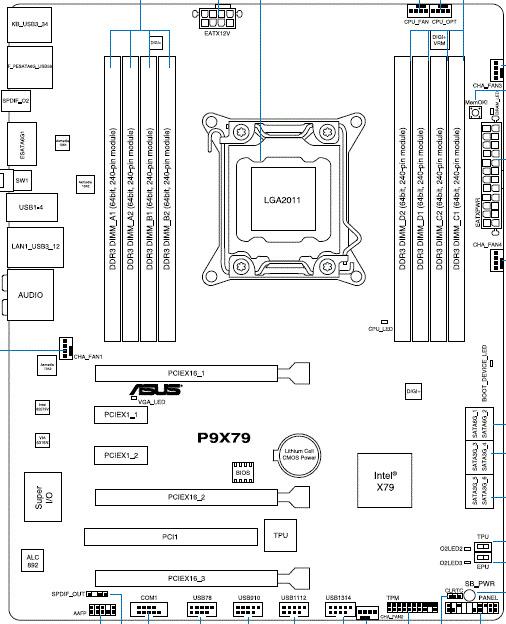 ASUS P9X79 схем