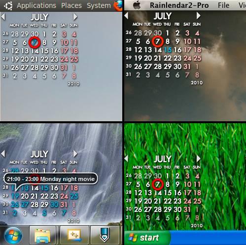 View. Rainlendar Lite 2.8.1 Full Screenshot.