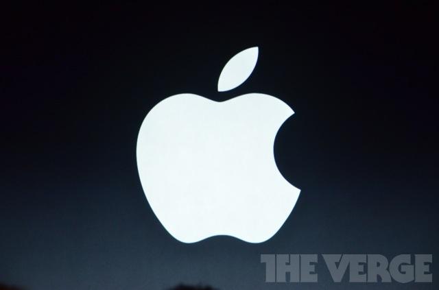 Apple на черном фоне