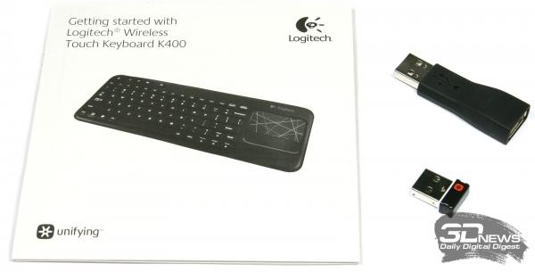 Комплект поставки клавиатуры Logitech K400
