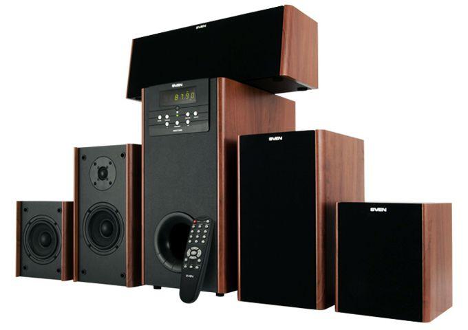 Мультимедийная 5 1 канальная акустика sven ihoo t100u звук и