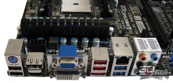 Biostar Hi-Fi A85X: задняя панель