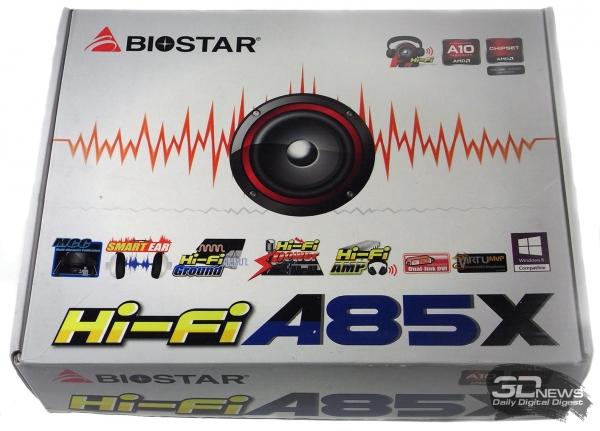 Biostar Hi-Fi A85X: упаковка