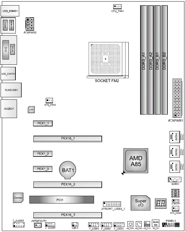 Biostar Hi-Fi A85X: схема