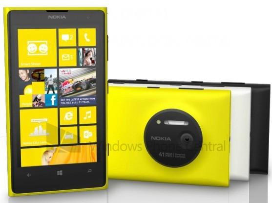 Новый рендер Nokia EOS (Lumia 1020/ Lumia 909): три варианта цвета корпуса и новые подробности