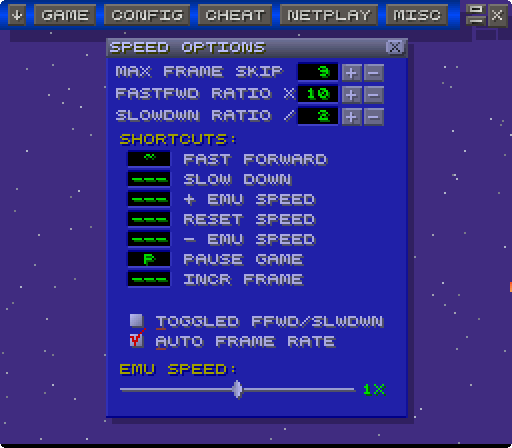 Back to top. here you can customize the game keys for ZSNES's sexy