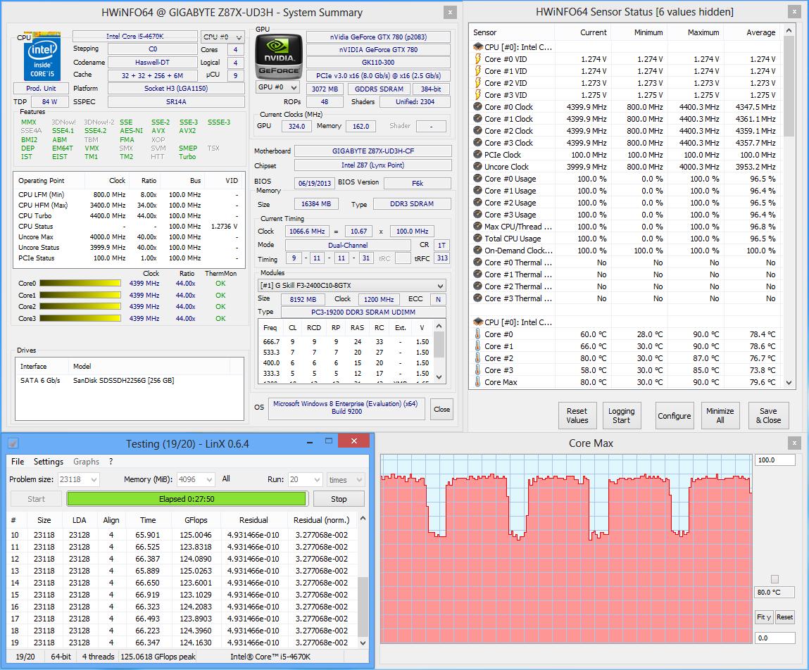 Температура процессора core 4