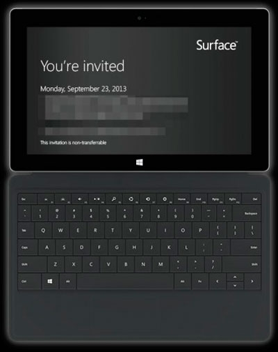 Microsoft представит планшеты Microsoft Surface следующего поколения 23 сентября