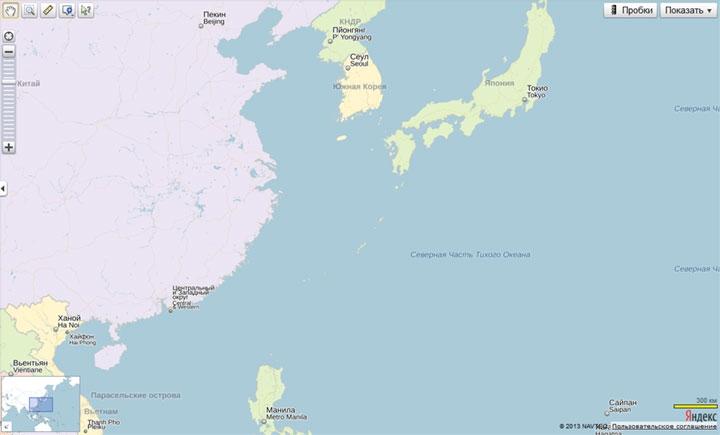 Остров Сахалин пропал на «Яндекс.Картах»