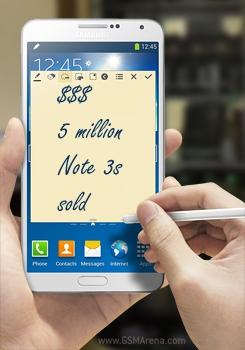 Всего за месяц продано более 5 млн планшетофонов Galaxy Note 3