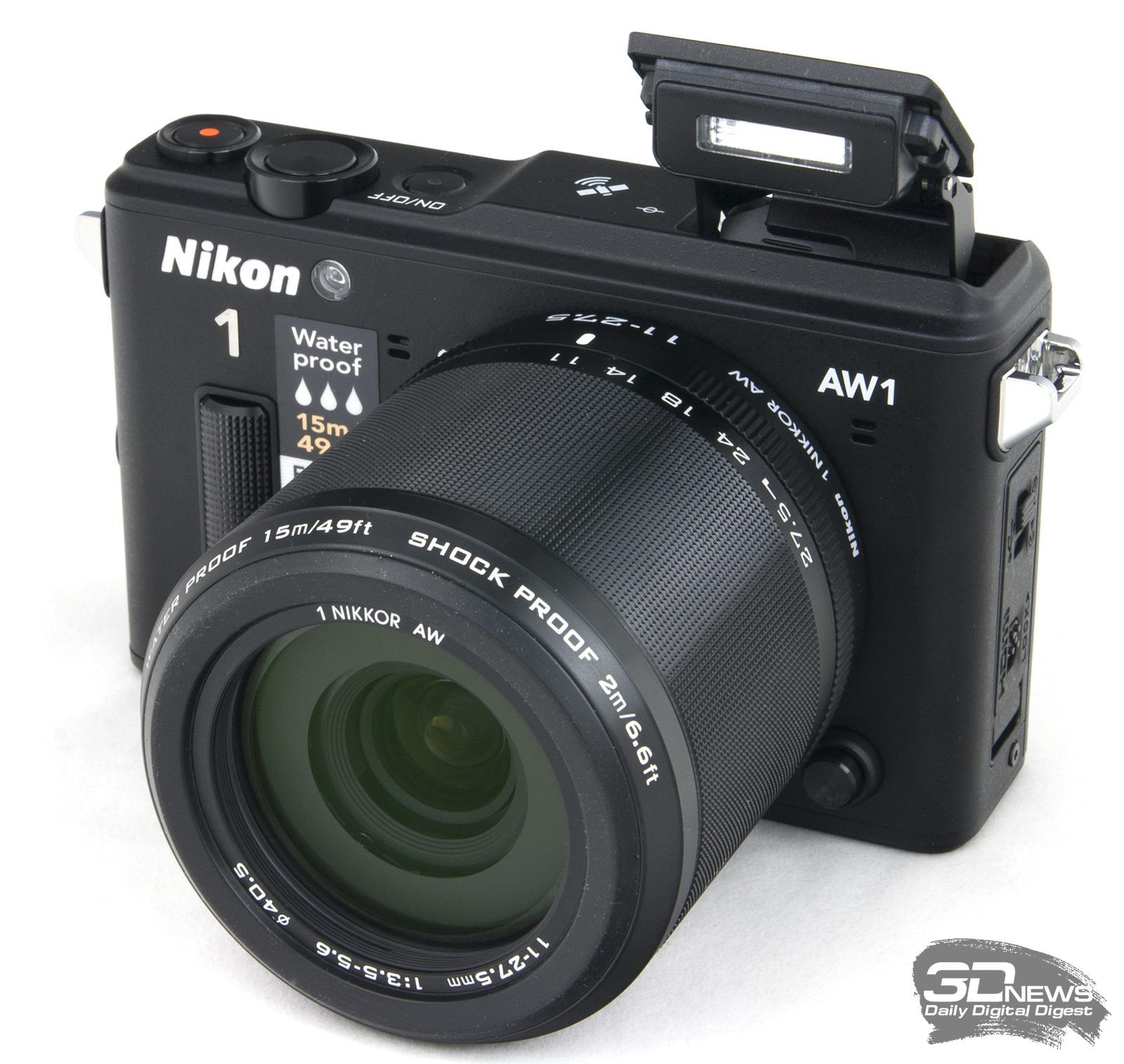 Фотоаппарат Nikon 1 AW1 Kit 11-27.5 mm F/3.5-5.6 Black