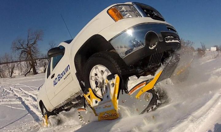 Накладные гусеничные модули Track N Go превратят внедорожник в снегоход