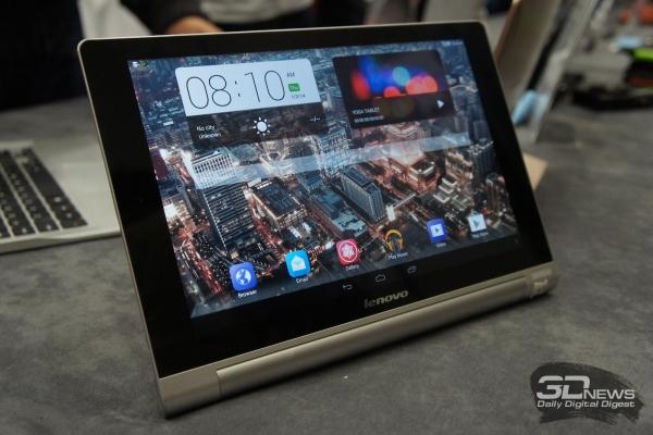 MWC 2014: Lenovo Yoga Tablet 10 HD+. Предварительный обзор