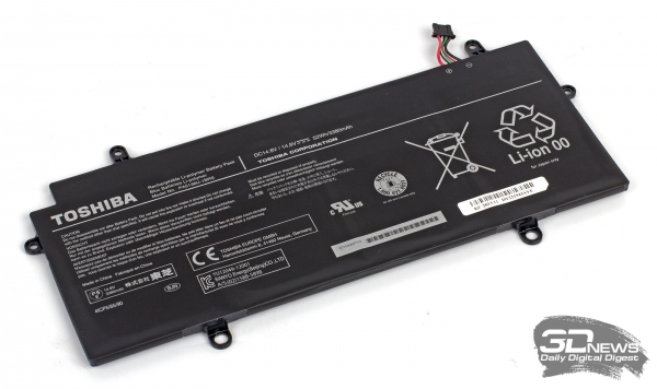 Toshiba Portege Z30-A-M5S: 52 Wh battery