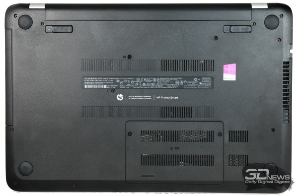 HP Pavilion 15-n029sr: bottom view