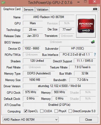 HP Pavilion 15-n029sr system information: external GPU