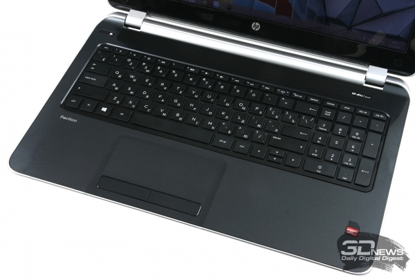 HP Pavilion 15-n029sr: keyboard and touchpad