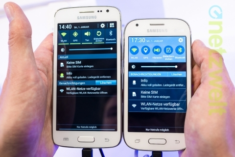 Galaxy Ace Style (справа) и Galaxy Core