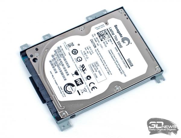 Dell Inspiron 7537: hybrid HDD