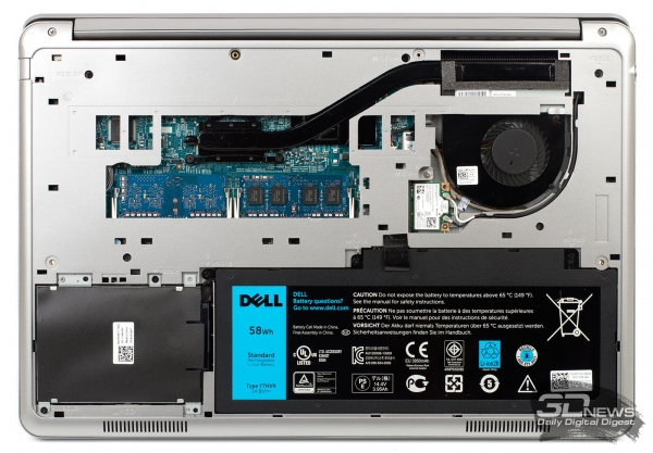 Dell Inspiron 7537: inside the notebook