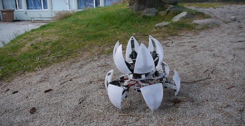 В сложенном состоянии робот,