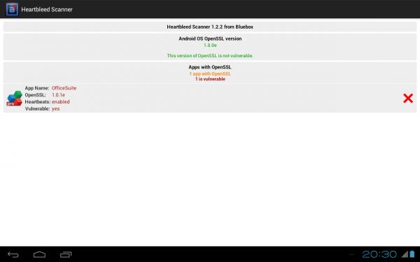 Heartbleed Scanner покажет список уязвимых приложений