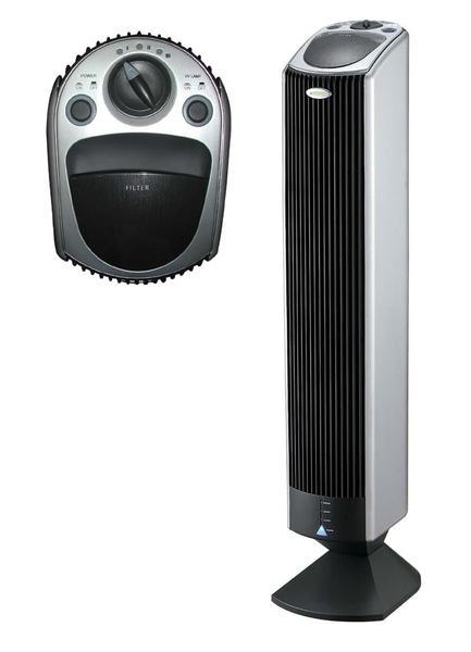 Вертикальный очиститель воздуха от Maxion довольно прост, но обладает и ионизатором, и озонатором
