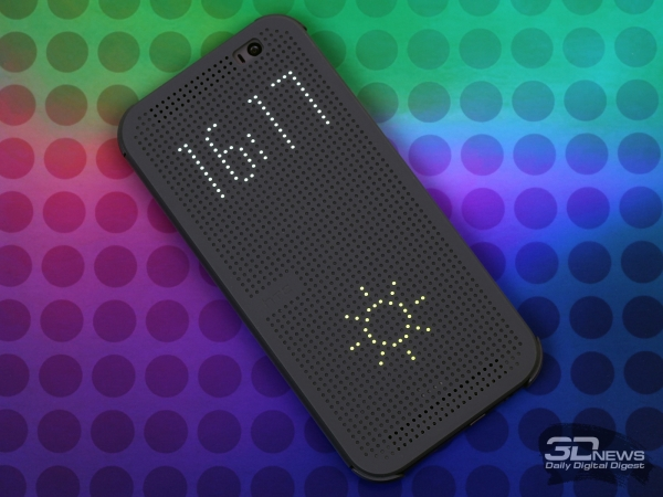 HTC One M8 with HTC Dot View cover