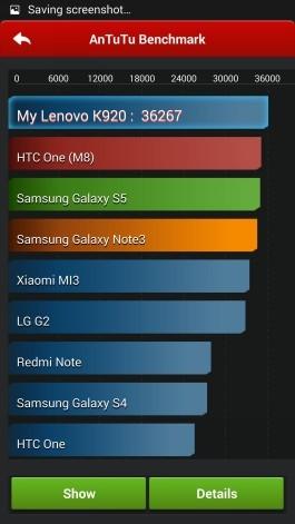 Lenovo Vibe Z2 Pro (K920): AnTuTu benchmark results