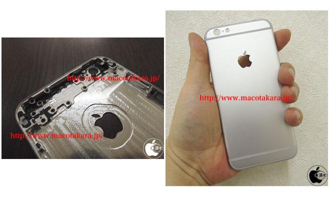 3D-изображение iPhone 6 и инженерный образец задней части корпуса